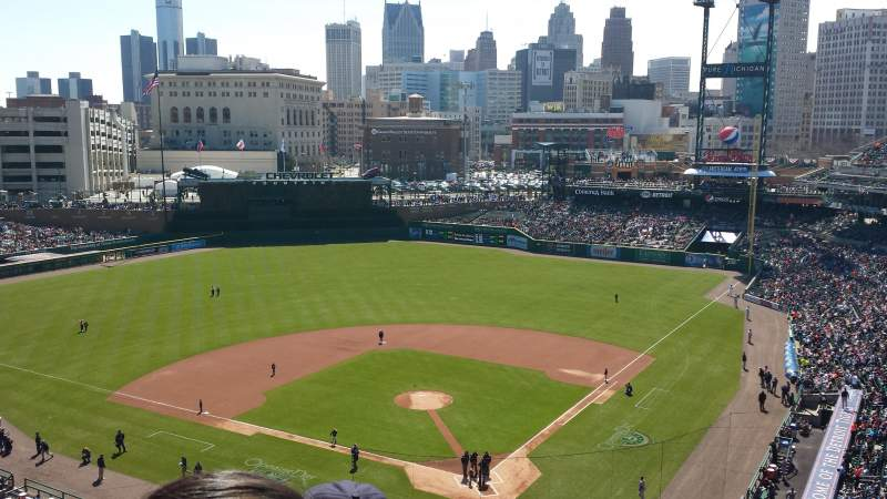 Seating view for Comerica Park Section 329 Row 4 Seat 11