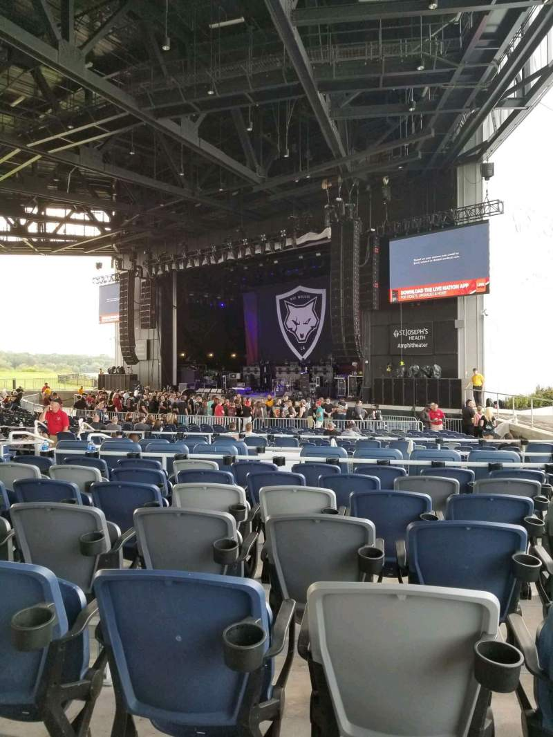 Seating view for St. Joseph's Health Ampitheater Section 206 Row J Seat 10