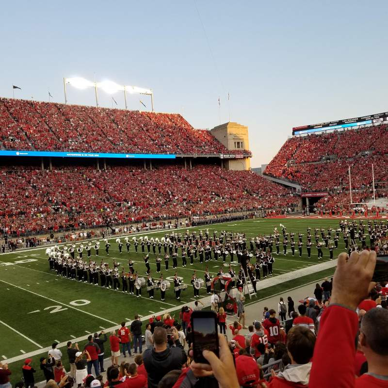 Seating view for Ohio Stadium Section 15A Row 5 Seat 5