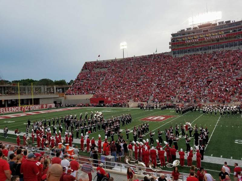 Memorial Stadium (Indiana), section: 25, row: 19, seat: 1