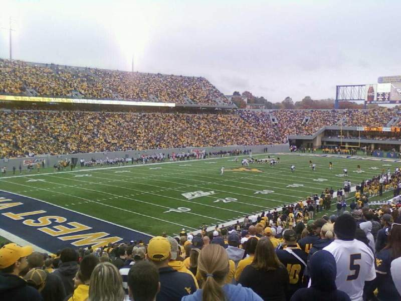 Seating view for Mountaineer Field Section 121