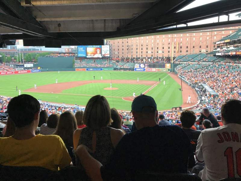 Seating view for Oriole Park at Camden Yards Section 43 Row 12 Seat 4