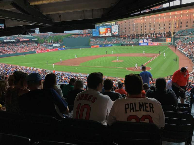 Seating view for Oriole Park at Camden Yards Section 43 Row 12 Seat 1