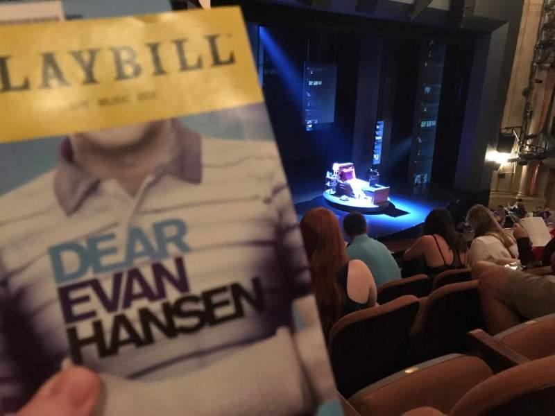Music Box Theatre, section: Mezz, row: D, seat: 27