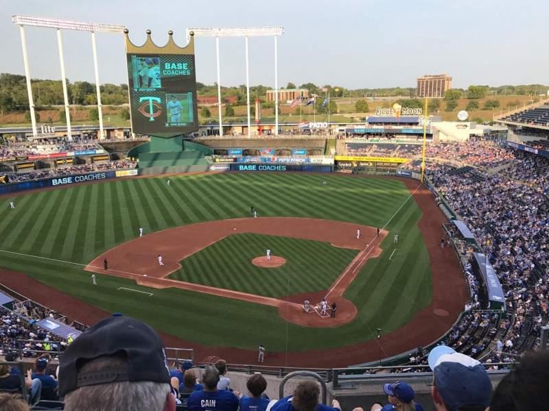 Kauffman Stadium, section: 417, row: N, seat: 8