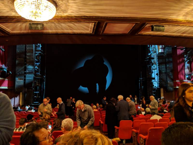 Seating view for Broadway Theatre - 53rd Street Section Orchestra L Row T Seat 6