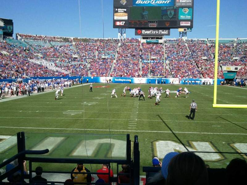 Seating view for Everbank Field Section 148 Row H Seat 24