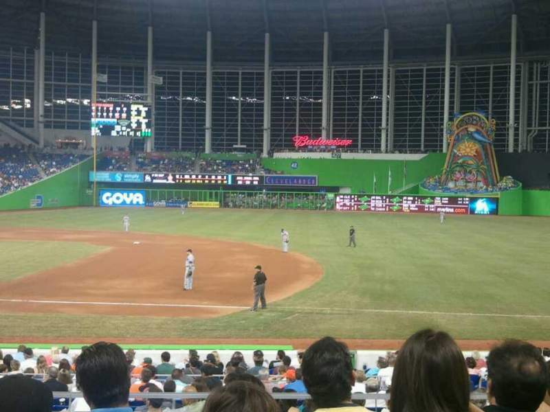 Seating view for Marlins Park Section 7 Row 4 Seat 18