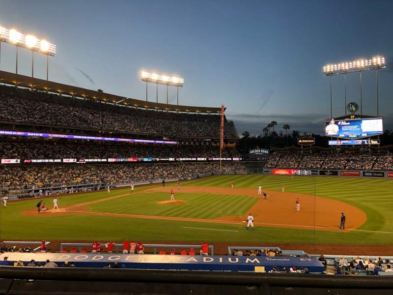 Seating view for Dodger Stadium Section 136LG Row B Seat 2