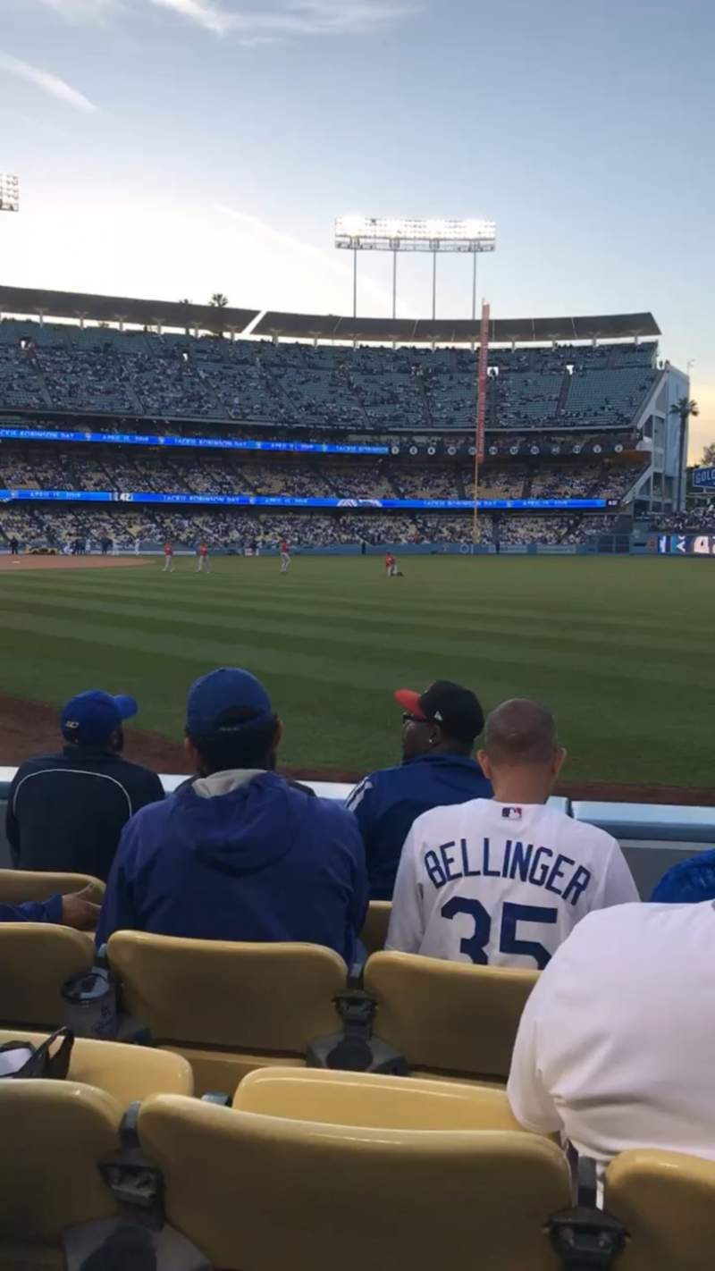 Seating view for Dodger Stadium Section 48FD Row D Seat 7