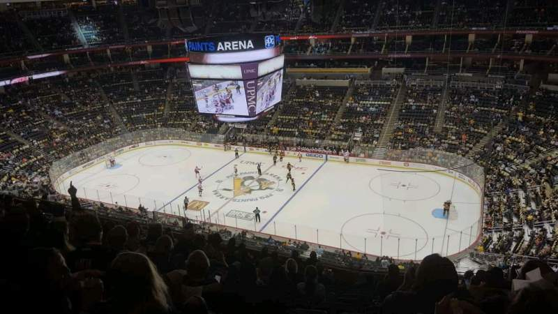 Ppg paints arena section 217 row m seat 8 pittsburgh for Hotels close to ppg paints arena