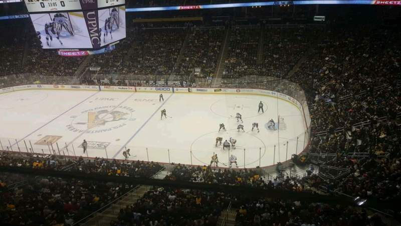 PPG Paints Arena, section: 217, row: A, seat: 9