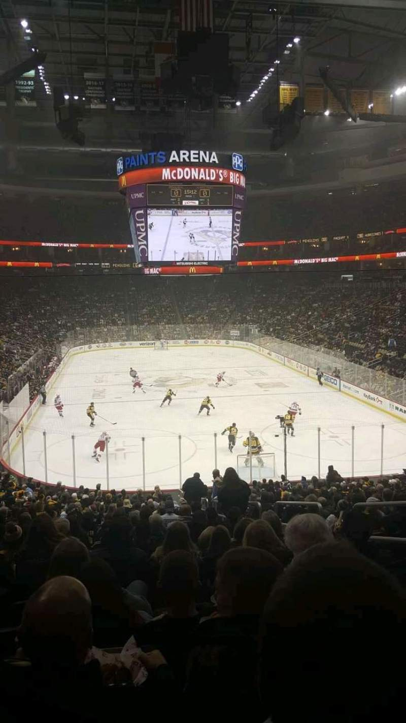 Seating view for PPG Paints Arena Section 119 Row AA Seat 4