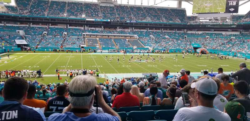 Seating view for Hard Rock Stadium Section 120 Row 39 Seat 11