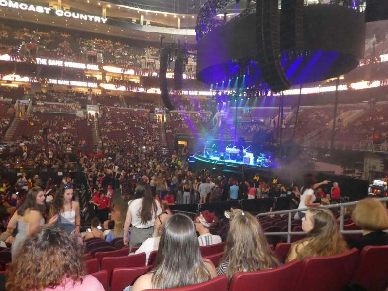 Seating view for Wells Fargo Center Section 114 Row 12 Seat 16