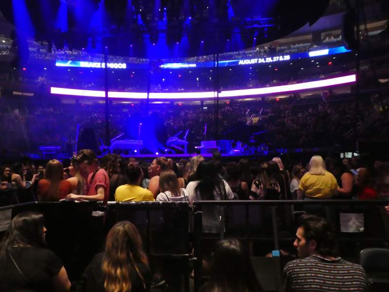 Seating view for Madison Square Garden Section Floor B Row 4 Seat 5