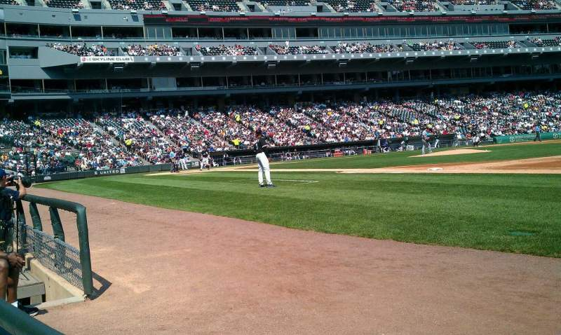 Seating view for U.S. Cellular Field Section 120 Row 1 Seat 6
