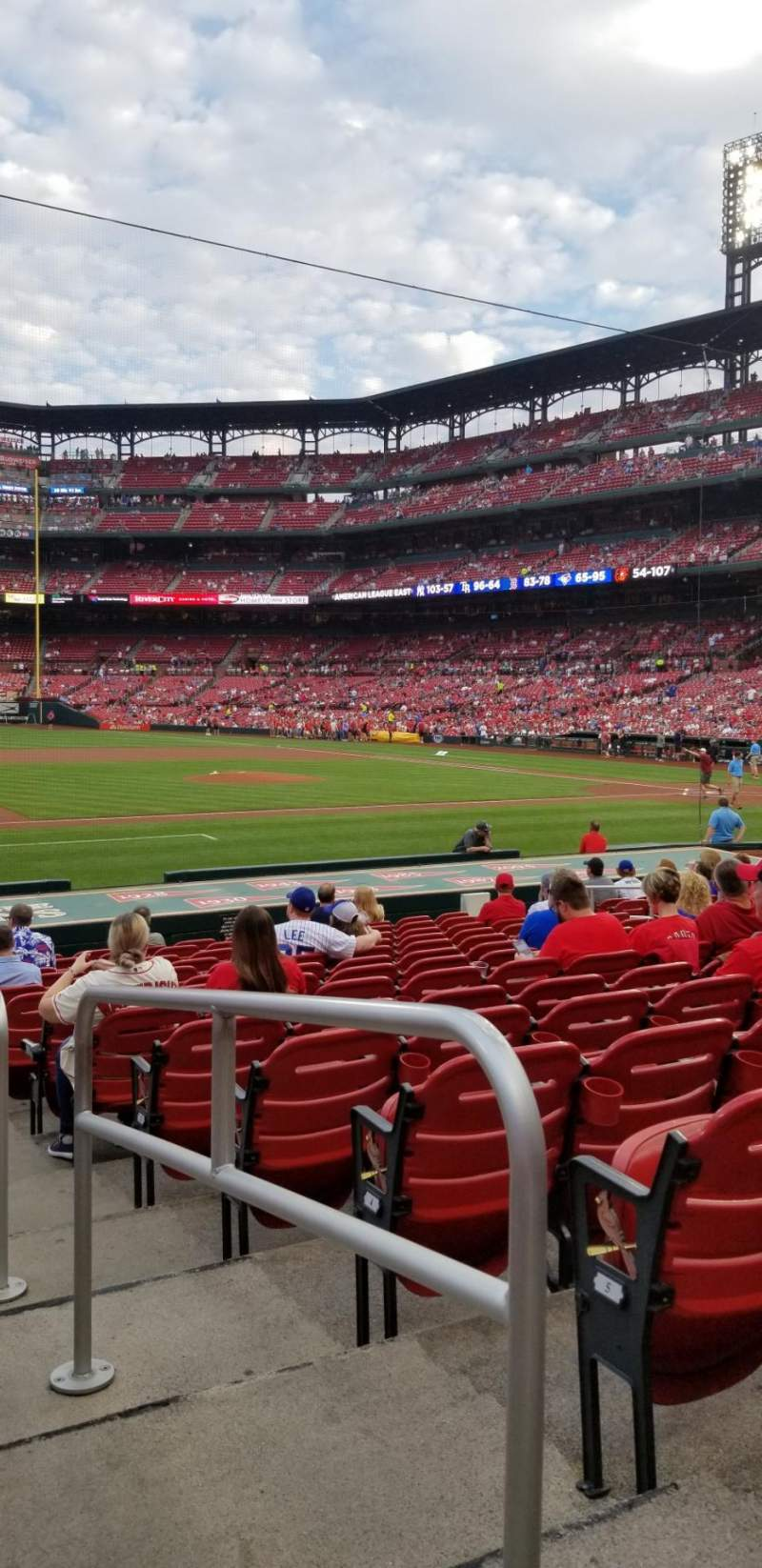 Seating view for Busch Stadium Section 158 Row 7 Seat 1