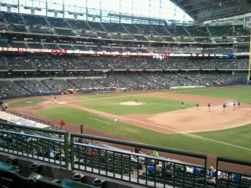 Seating view for Miller Park Section 210 Row 3 Seat  18