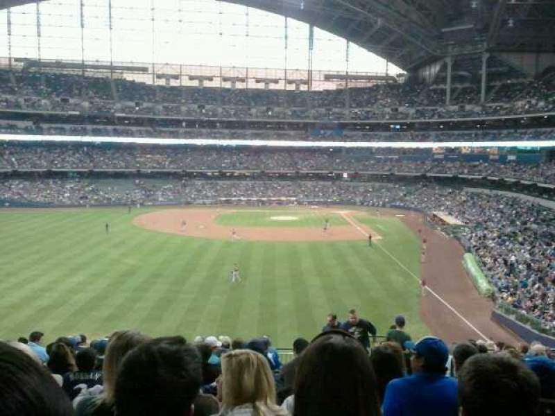 Seating view for Miller Park Section 235 Row 16 Seat 4