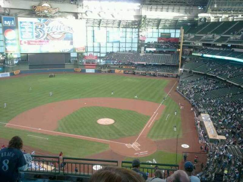 Seating view for Miller Park Section 425 Row  6 Seat  2