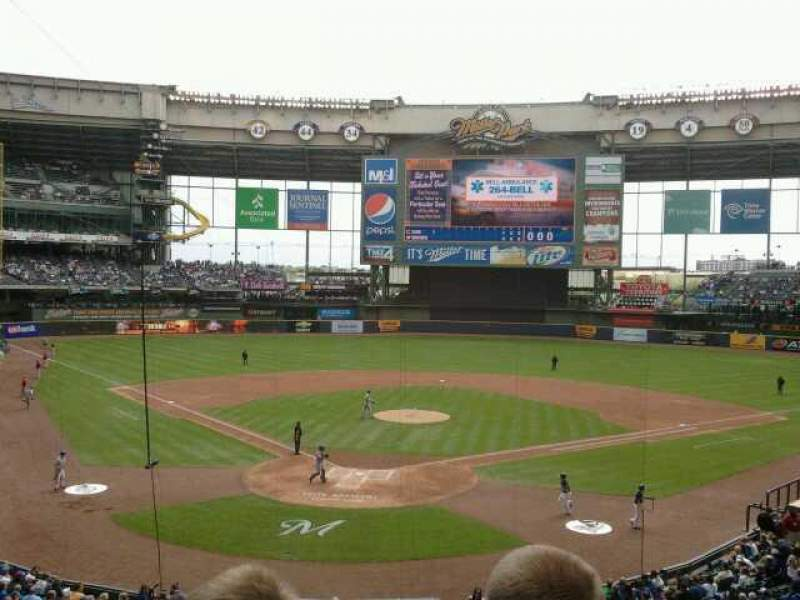 Seating view for Miller Park Section 218 Row 4 Seat 18
