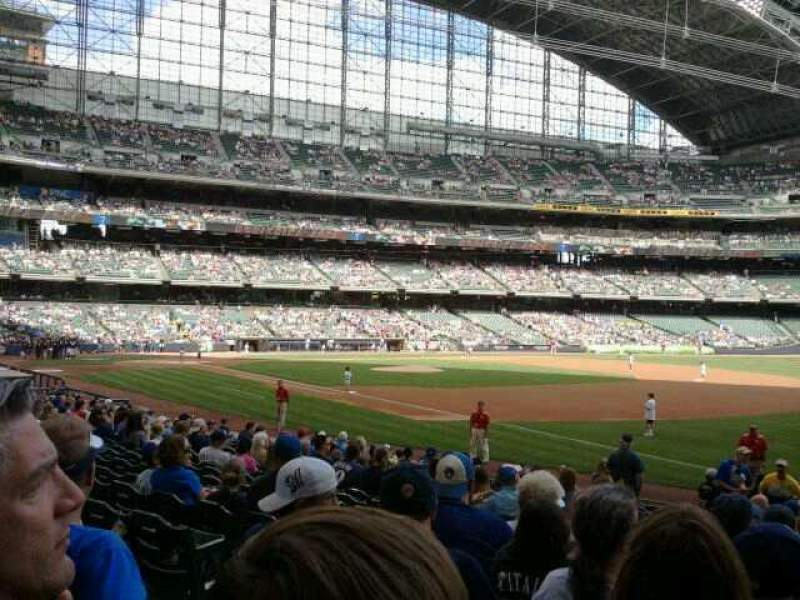 Seating view for Miller Park Section 109 Row 18 Seat 5