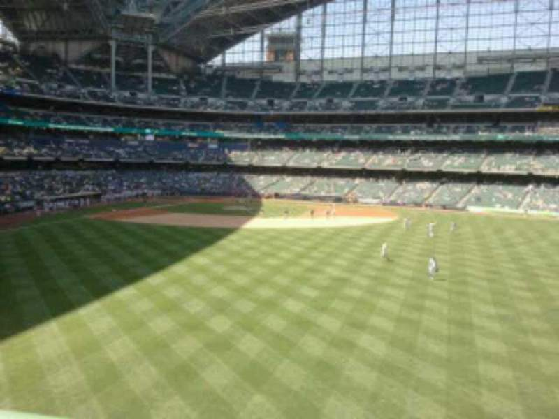 Seating view for Miller Park Section 201 Row 1 Seat 28