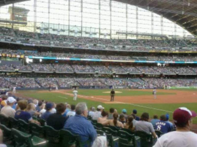 Seating view for Miller Park Section 109 Row 11 Seat 3
