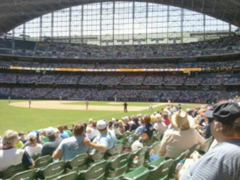 Seating view for Miller Park Section 128 Row  13 Seat  8