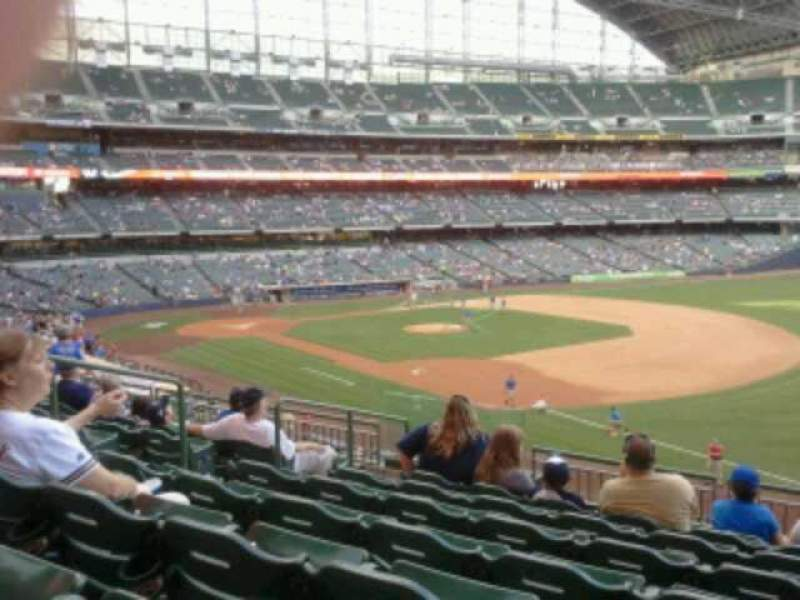 Seating view for Miller Park Section 209 Row 8 Seat 6