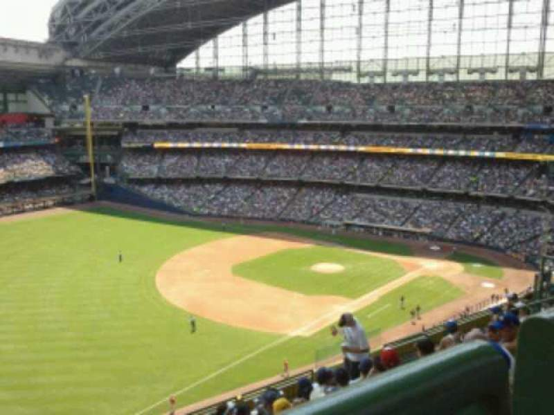 Seating view for Miller Park Section 435 Row 8 Seat 12