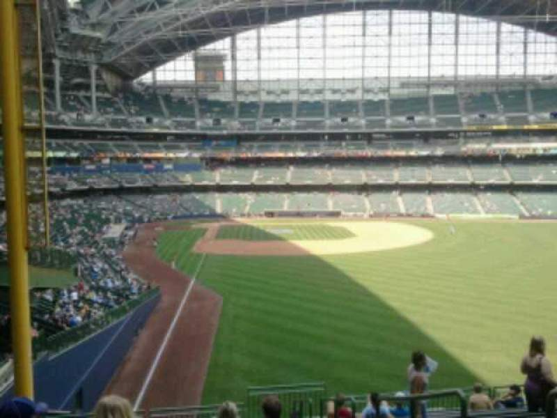 Seating view for Miller Park Section 305 Row 13 Seat 11