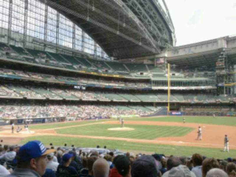 Seating view for Miller Park Section 112 Row  21 Seat  9