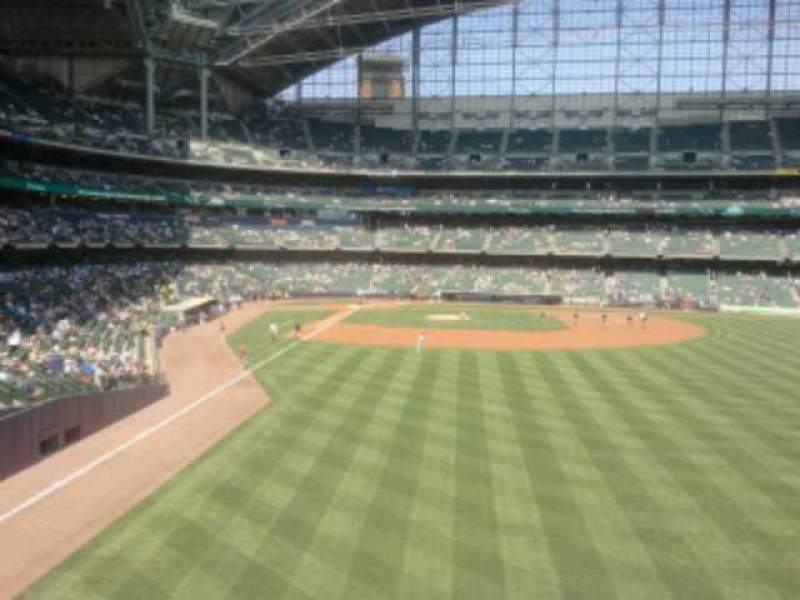 Seating view for Miller Park Section 204 Row 1 Seat 15