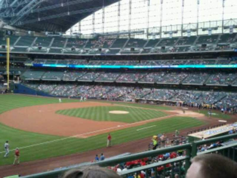 Seating view for Miller Park Section 228 Row 2 Seat 9