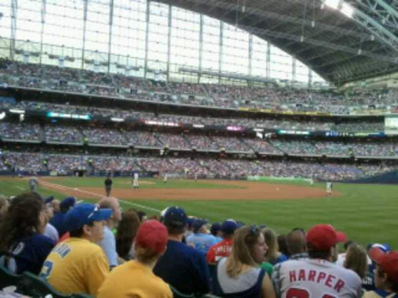 Seating view for Miller Park Section 109 Row 10 Seat 1