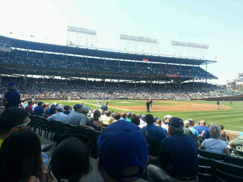 Seating view for Wrigley Field Section 137 Row 2 Seat 102