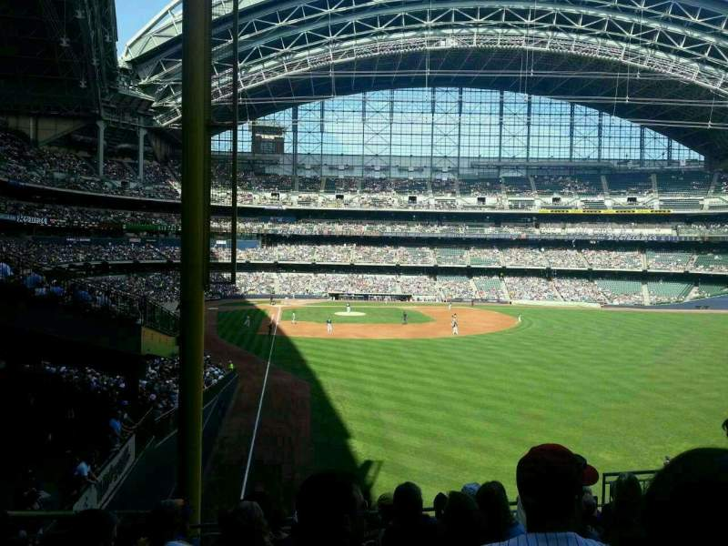 Seating view for Miller Park Section 205 Row 10 Seat 2