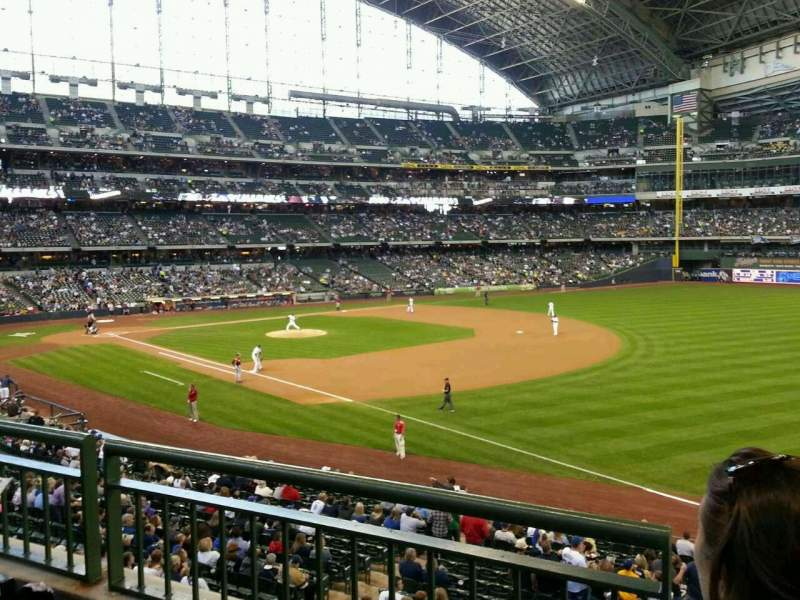 Seating view for Miller Park Section 209 Row 2 Seat 16
