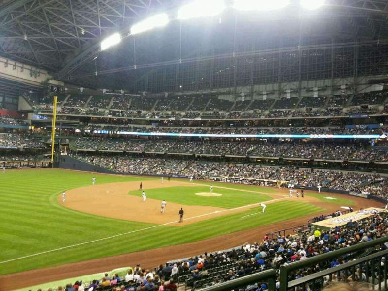 Seating view for Miller Park Section 228 Row 2 Seat 20