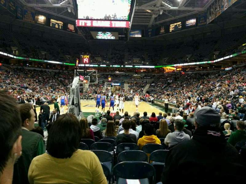 Seating view for BMO Harris Bradley Center Section 101 Row KK Seat 12