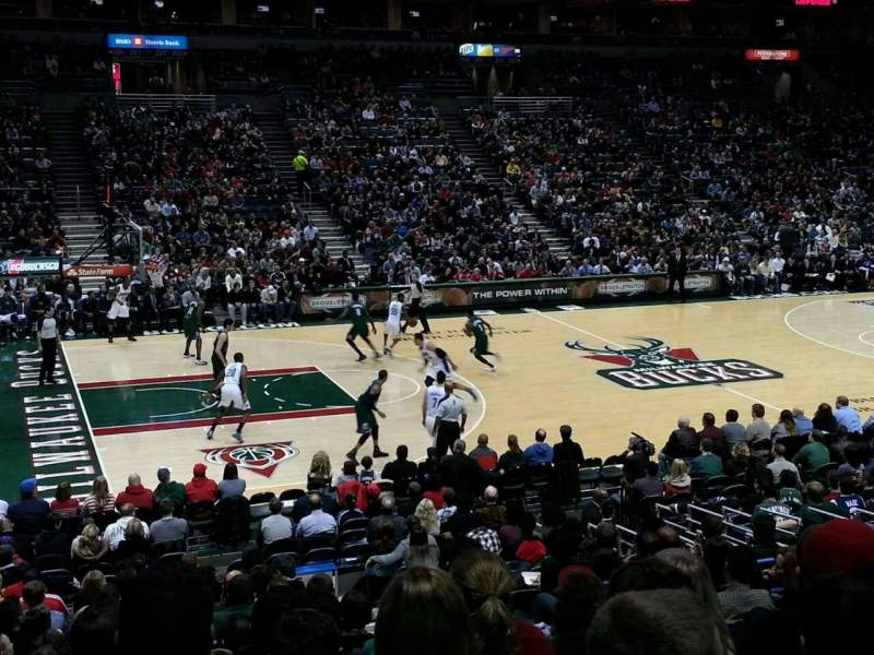 Seating view for BMO Harris Bradley Center Section 216 Row U Seat 12