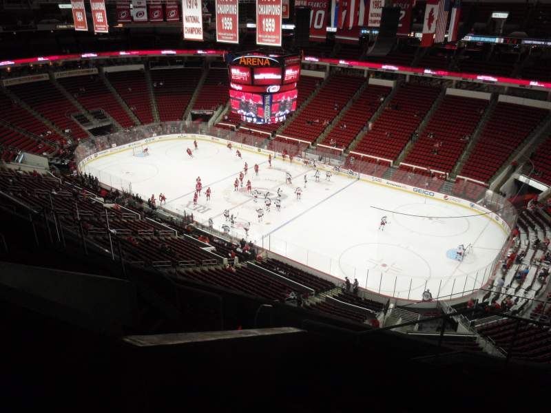 Seating view for PNC Arena Section 301 Row H Seat 03