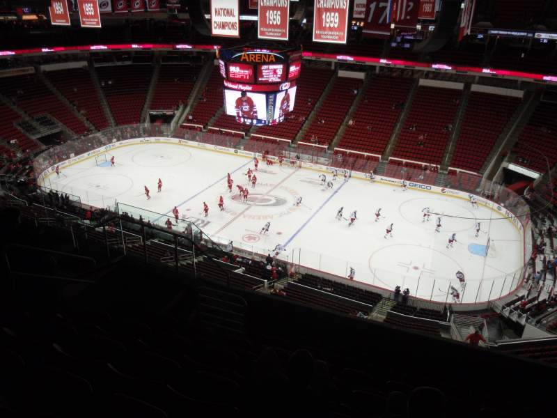 Seating view for PNC Arena Section 302 Row H Seat 8