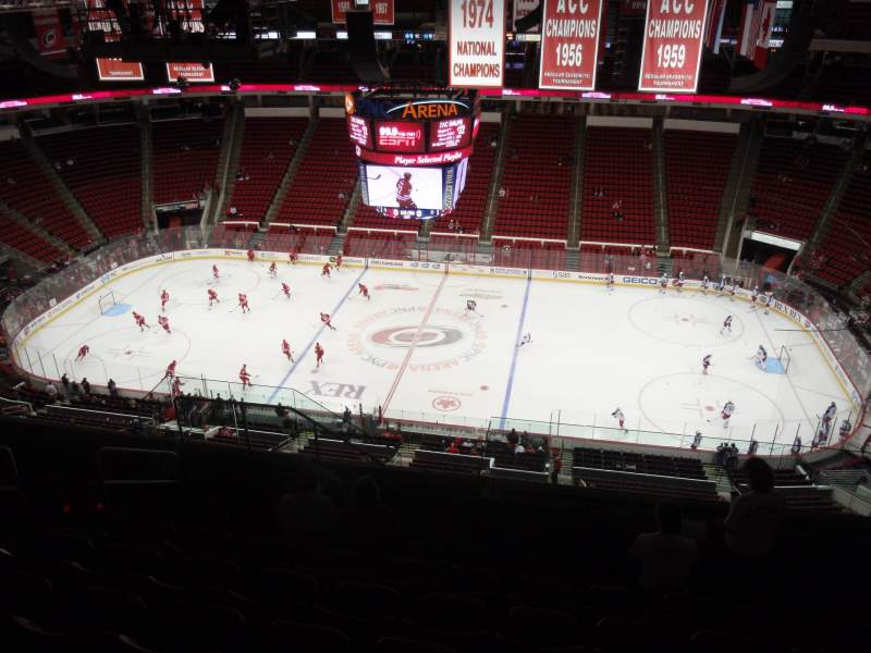 Seating view for PNC Arena Section 303 Row K Seat 19