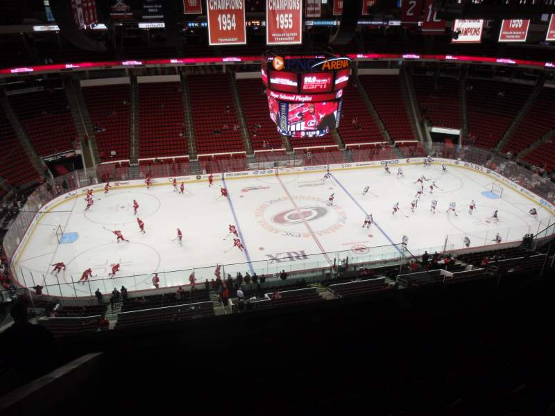 Seating view for PNC Arena Section 305 Row H Seat 13