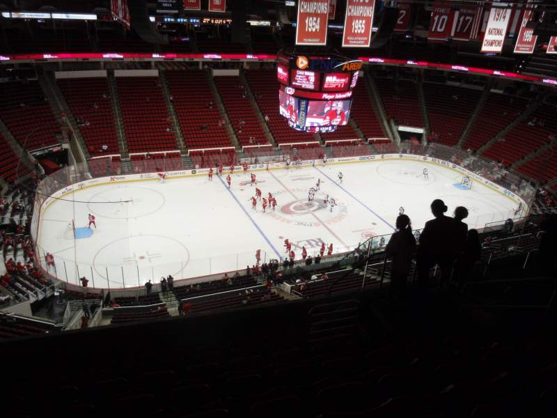 Seating view for PNC Arena Section 306 Row H Seat 8