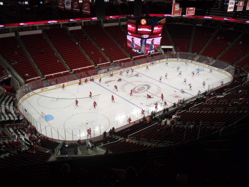Seating view for PNC Arena Section 308 Row L Seat 10
