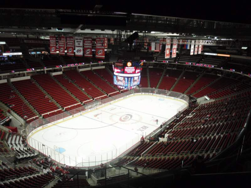 Seating view for PNC Arena Section 310 Row J Seat 1